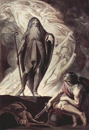 Johann Heinrich Fuessli Theresias erscheint dem Ulysseus Wandbilder