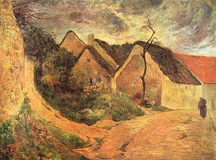 Paul Gauguin Ansteigender Weg in Osny
