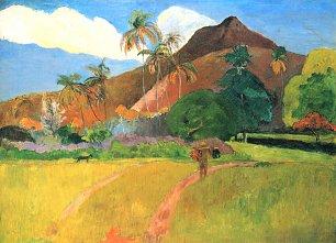 Paul Gauguin Berge auf Tahiti Wandbilder