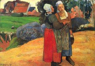 Paul Gauguin Bretonische Baeuerinnen Wandbilder
