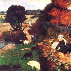 Paul-Gauguin-Bretonische-Schaeferin