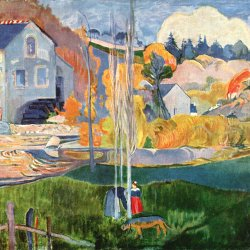 Paul-Gauguin-Die-David-Muehle-in-Pont-Aven