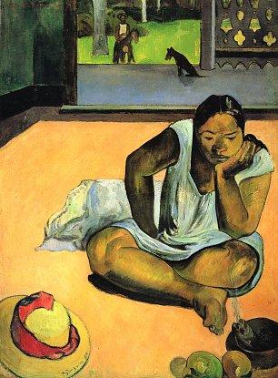 Paul Gauguin Die schmollende Te faaturuma Wandbilder
