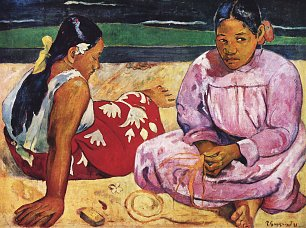 Paul Gauguin Frauen am Strand Wandbild
