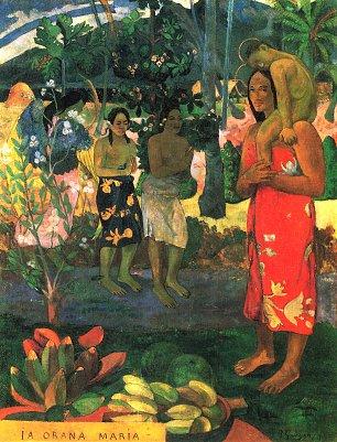 Paul Gauguin Gegruesst seist du Maria Wandbilder