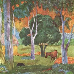 Paul-Gauguin-Landschaft-auf-La-Dominique