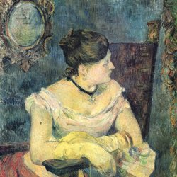 Paul-Gauguin-Portrait-der-Madame-Gauguin-im-Abendkleid