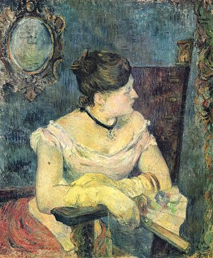 Paul Gauguin Portrait der Madame Gauguin im Abendkleid