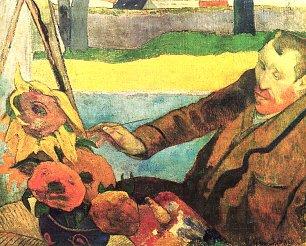 Paul Gauguin Portrait des Vincent van Gogh Sonnenblumen malend Wandbilder