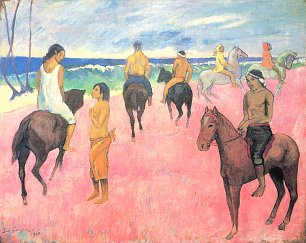 Paul Gauguin Reiter am Strand 2