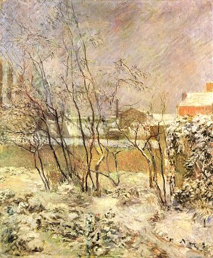 Paul Gauguin Schnee in der Rue Carcel