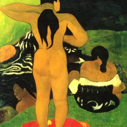 Paul-Gauguin-Tahiterinnen-am-Strand