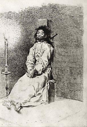 Francisco de Goya Der Erdrosselte 2 Wandbilder