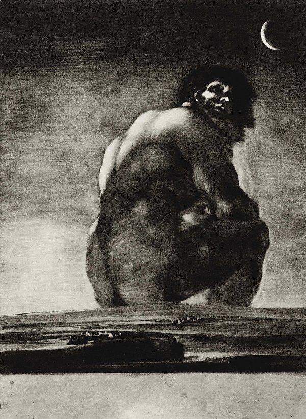 Francisco de Goya Der Koloss
