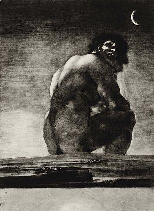 Francisco de Goya Der Koloss Wandbilder