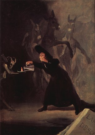 Francisco de Goya Die Lampe des Teufels Wandbilder