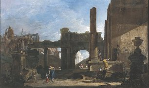 Francesco Guardi Capriccio der Architektur Wandbild