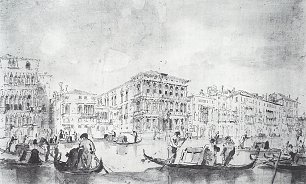 Francesco Guardi Der Canal Grande in Ca Rezzonico
