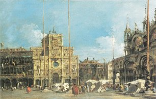 Francesco Guardi Der Uhrturm am Marktplatz