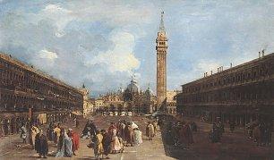 Francesco Guardi Markusplatz mit der Basilika un dem Campanile Wandbilder