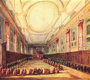 Francesco Guardi Papst Pius VI empfaengt den Dogen Wandbilder