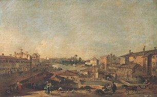 Francesco Guardi Veduta di Dolo Wandbilder