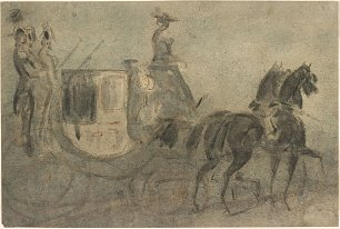 Constantin Guys A Carriage Wandbild