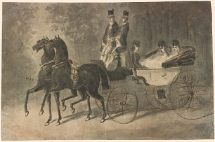 Constantin Guys Women in a Carriage Wandbild