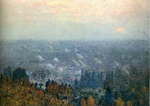 Childe Hassam Mount hood and the valley of the willamette Wandbild