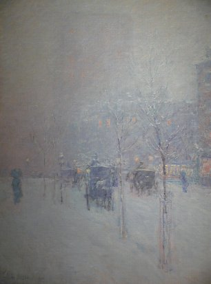 Childe Hassam New York late afternoon winter