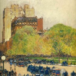 Childe-Hassam-Spring-morning-in-the-heart-of-the-city-aka-madison-square-new-york