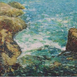 Childe-Hassam-Surf-and-Rocks