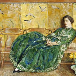 Childe-Hassam-The-Green-Gown