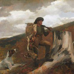 Winslow-Homer-A-Huntsman-and-Dogs