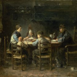 Jozef-Israels-Peasant-family-at-the-table