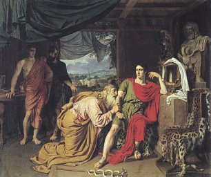 Alexander Andrejewitsch Iwanow Priam Begging the Body of Hector from Achilles Wandbild