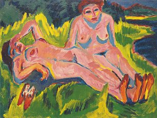 Ernst Ludwig Kirchner Zwei rosa Akte am See