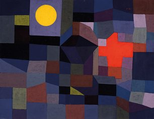 Paul Klee Fire at Full Moon Wandbild