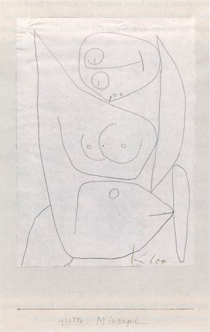 Paul Klee Miss Engel Wandbild