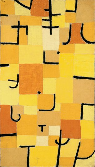 Paul Klee Signs In Yellow Wandbild