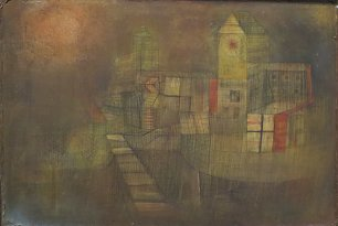 Paul Klee Small Village in the Autumn Sun Wandbild