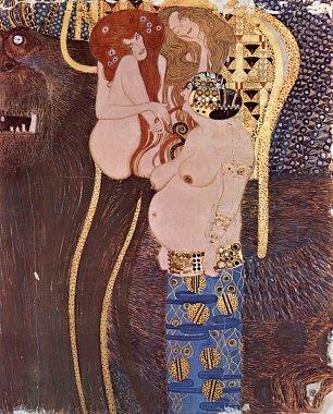 Gustav Klimt Beethovenfries 2 Wandbilder