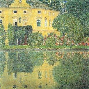Gustav Klimt Schloss Kammer am Attersee 4 Wandbilder