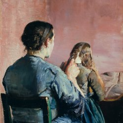 Christian-Krohg-Braiding-her-Hair