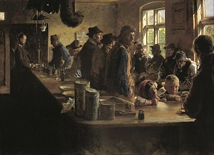 Peder Severin Kroyer A the victualler s when there is no fishing Wandbild