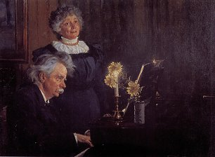 Peder Severin Kroyer Nina and Edvard by the piano