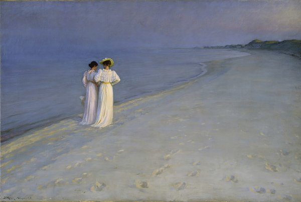 Peder Severin Kroyer summerevening southern beach