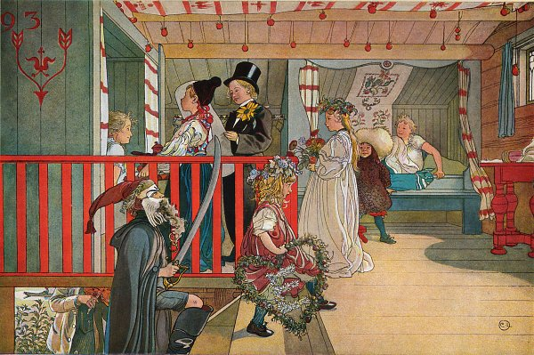 Carl Larsson A Day of celebration