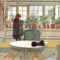 Carl-Larsson-Flowers-on-the-windowsill