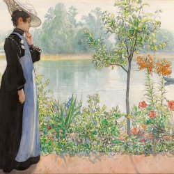 Carl-Larsson-Karin-by-the-shore